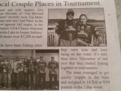 Eric and Leann newspaper